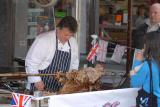 Street Party 2011 - Carving the Cooked Hog